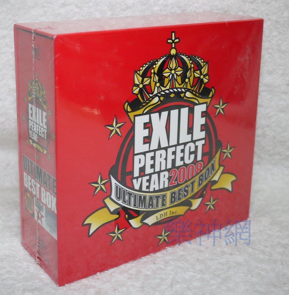 放浪兄弟Exile PERFECT YEAR 2008 ULTIMATE BEST BOX日版3 CD+4 DVD限定盤