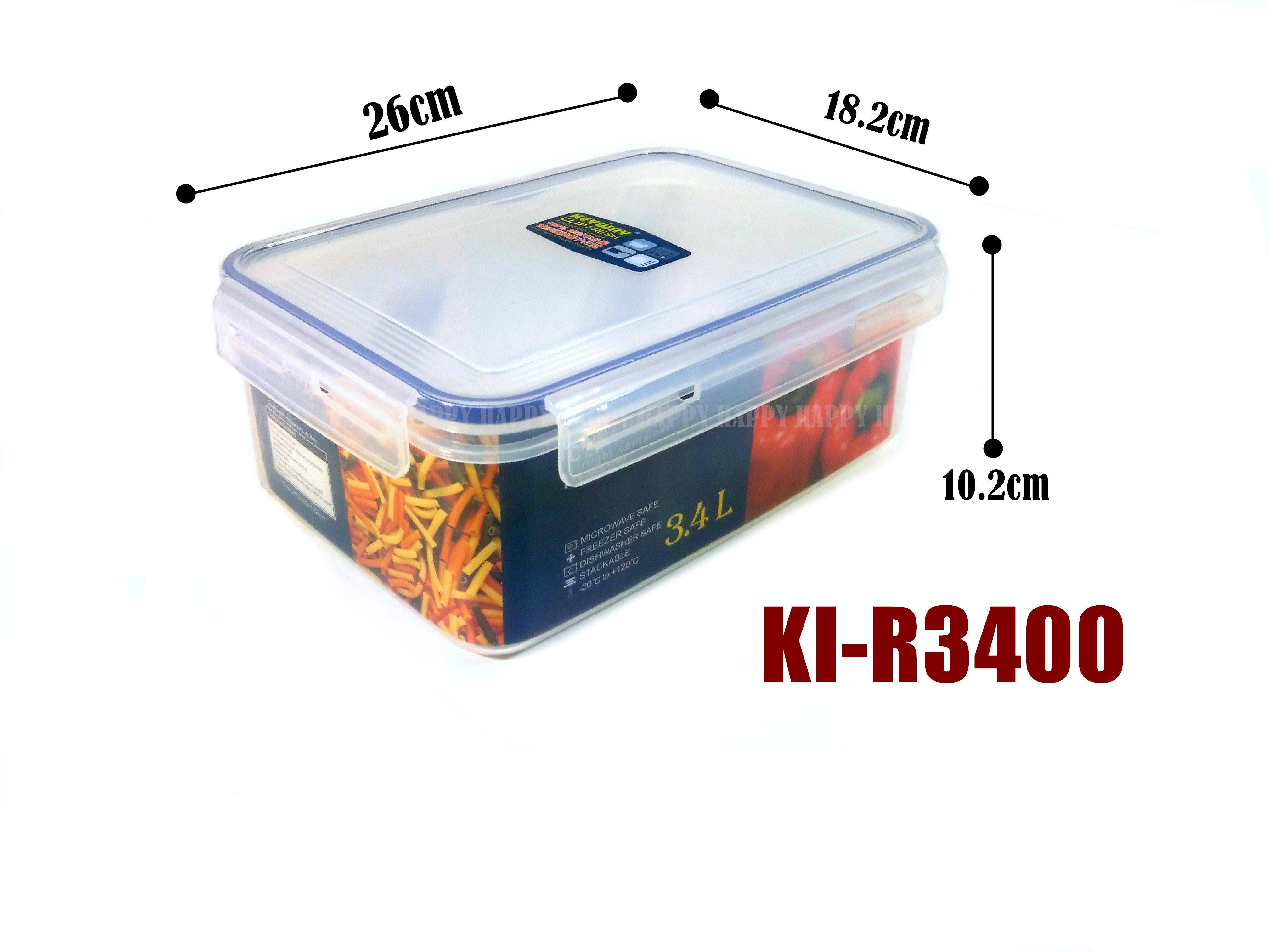 [歡樂廚房] KEYWEY 聯府 KI-R3400 天廚長型保鮮盒 密封盒 扣式 3.4L 台灣製