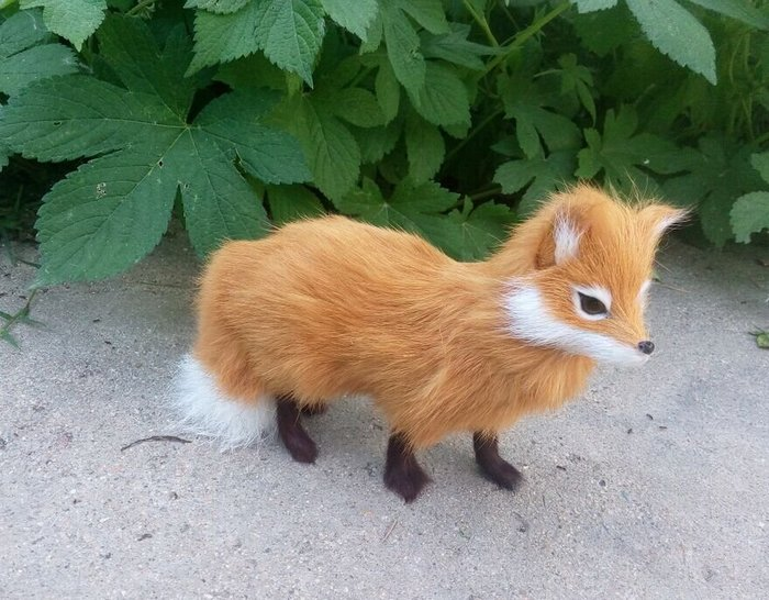 仿真狐狸(黃色)--招桃花