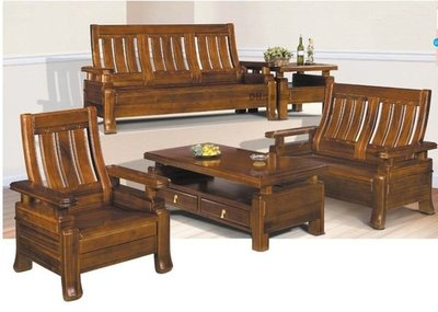 【DH】貨號E710-1《經典》烏心石大小茶几椅組˙可拆賣˙附強玻˙質感一流˙主要地區免運