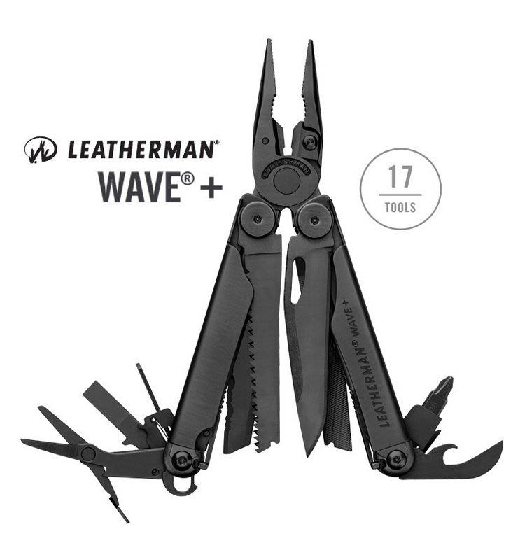 【EMS軍】美國Leatherman Wave Plus 工具鉗-黑色#832526