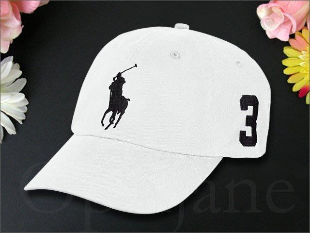 Polo Ralph Lauren Hat 大馬數字3黑馬 Logo運動休閒鴨舌帽/棒球帽高爾夫球帽 愛Coach包包