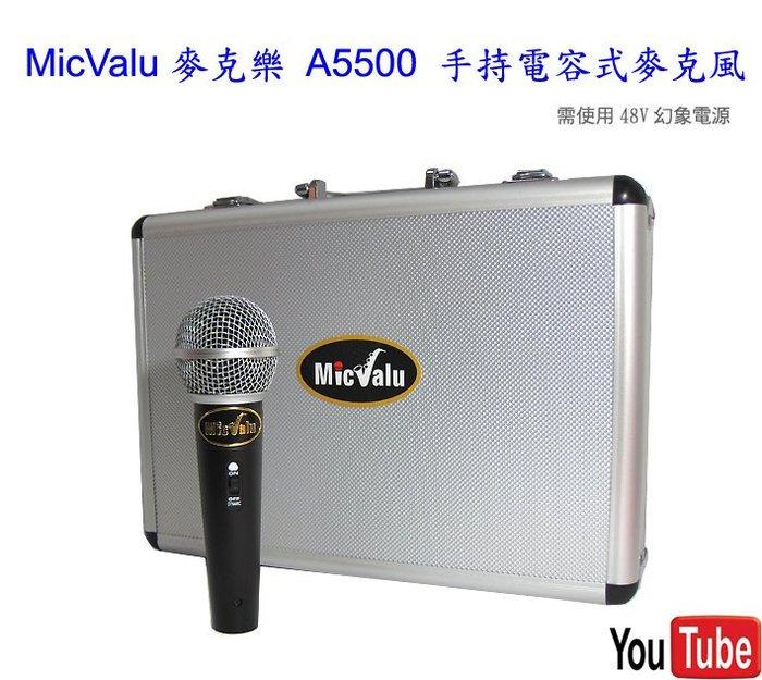 內行的唱歌高手適用MicValu  A5500手持電容式麥克風+nb35+網子 送166音效