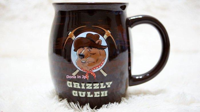 ~Dona日貨~香港迪士尼樂園限定 灰熊山谷被懸賞的灰熊船長 馬克杯 水杯 杯子 C59