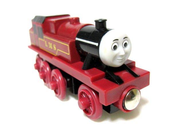 愛卡的玩具屋㊣正版 THOMAS 湯瑪士和他的朋友@ 磁性 原木小火車頭 @ARTHUR 阿瑟