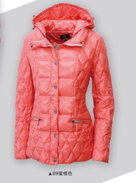 「喜樂屋戶外」WILDLAND女款超輕羽絨時尚羽絨外套 防風 保暖 透氣 2101-89蜜橘色