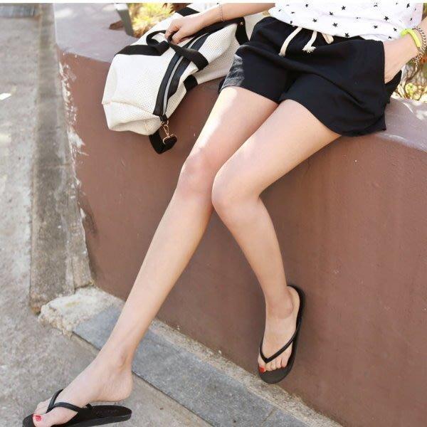 享瘦衣身中大尺碼【B2520】休閒風綁帶顯瘦短褲