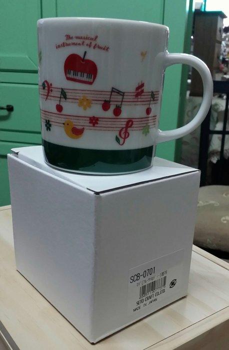 美生活館 日本創意商品 陶瓷 音樂 馬克杯 (B) 日本製 水杯 咖啡杯 餐廳 店面 自用收藏民宿鄉村 日雜 Zakka