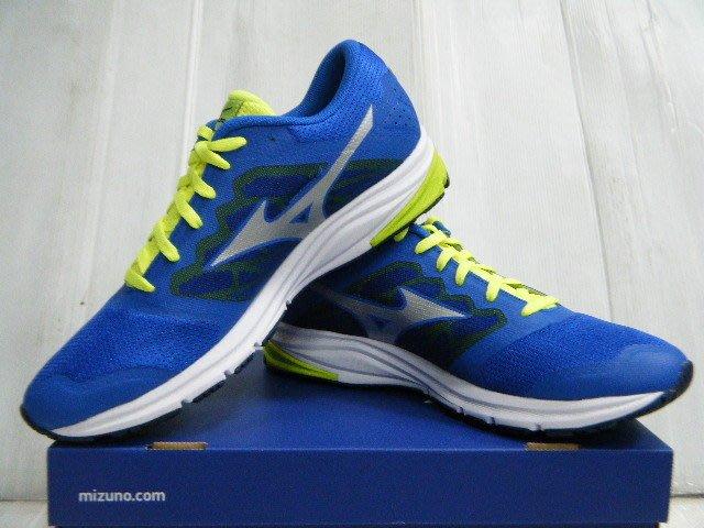 新莊新太陽 MIZUNO 美津濃 SYNCHRO MD 2 J1GE171804 休閒款 男 慢跑鞋 藍X綠 特2000
