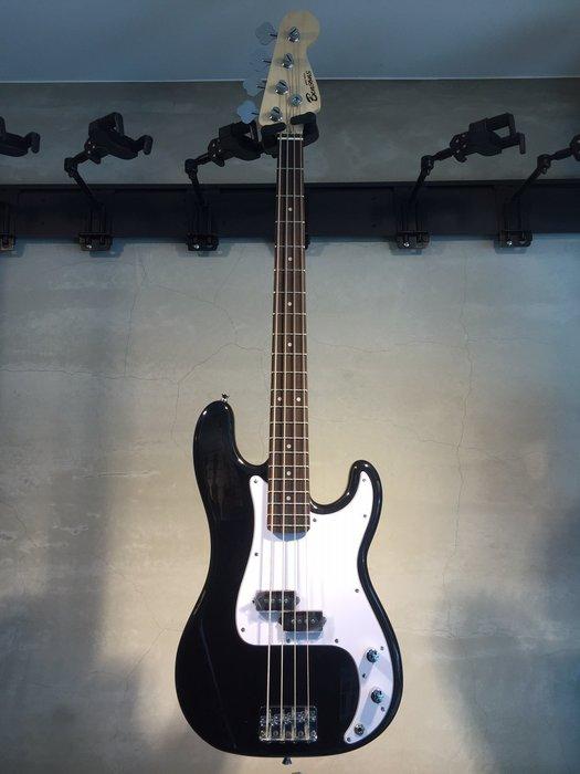 【六絃樂器】全新精選 Bensons P型 黑色電貝斯 / 附配件 歡迎自取 初學首選