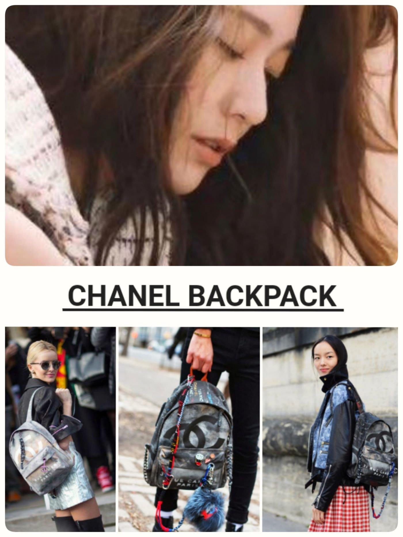 Chanel ❤️ 仿舊塗鴉後背包