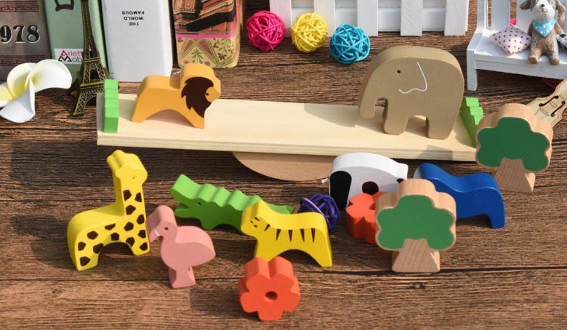楞宅 ~ 兒童益智遊戲木製手指訓練動物蹺蹺板學習遊戲組 / MP36