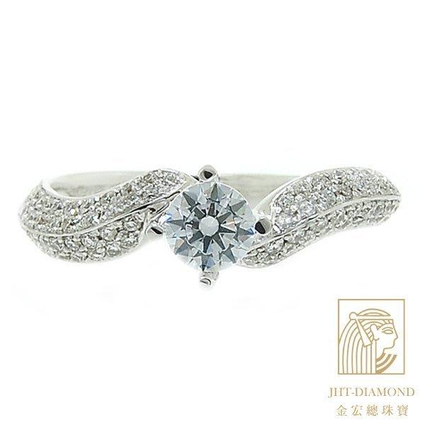 【JHT 金宏總珠寶/GIA專賣】婚戒/鑽戒 女鑽石戒台 (不含搭配主鑽)JRM085