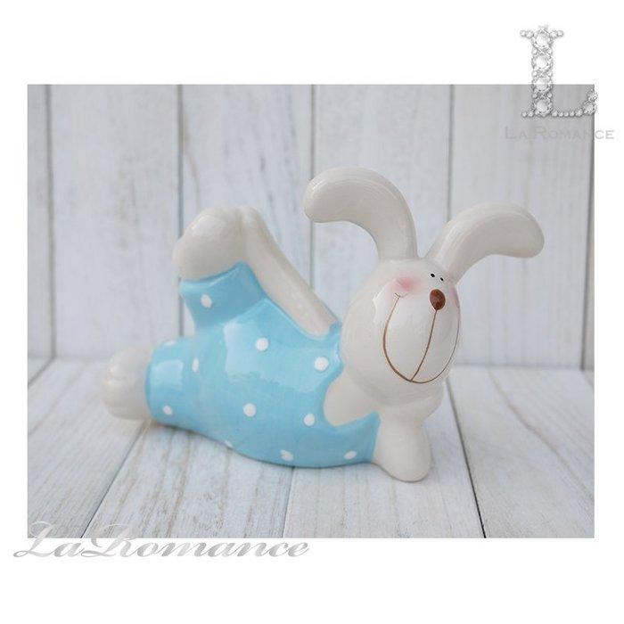【COCORO 童趣物語特惠系列】 陶瓷兔子存錢筒 (藍) / 撲滿 / 動物 / 小孩、兒童房