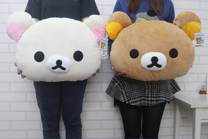 【高弟街百貨】正版拉拉熊抱枕 18吋拉拉熊頭枕 拉拉熊大抱枕 拉拉熊頭形抱枕 拉拉熊午安枕 拉拉熊造型抱枕 拉拉熊娃娃