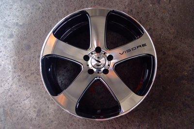 全新日本COSMIC 5爪黑底車面洗肋邊鋁圈