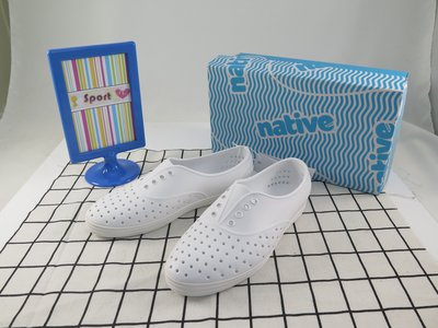 【iSport愛運動】native 洞洞鞋 JERICHO PRINT 正品 113004001999 女款 全白