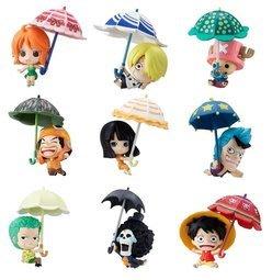 全新航海王 海賊王 MEGAHOUSEQ版 洋傘 雨傘 Sky Parasol ver.剩香吉士娜美索隆佛朗基每個99