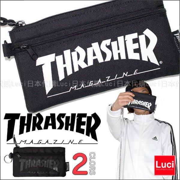THRASHER 刺繡 LOGO 手機袋 皮夾 卡夾 零錢包 正品 運動 滑板 錢包 共三色 LUCI日本代購空運