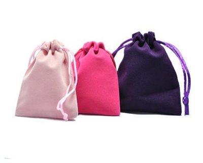 EOS 時尚精品 觸感超好高級絨布袋 束口袋 首飾袋 贈品袋 收納袋 三色可選 (超低價/飾品/套裝/熱賣/促銷/精品)
