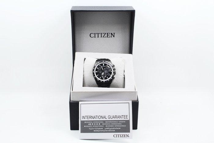 【台南橙市3C】CITIZEN 星辰錶 光動能電波三環時尚腕錶 AT3005-55E 黑 43MM 公司貨 #08860
