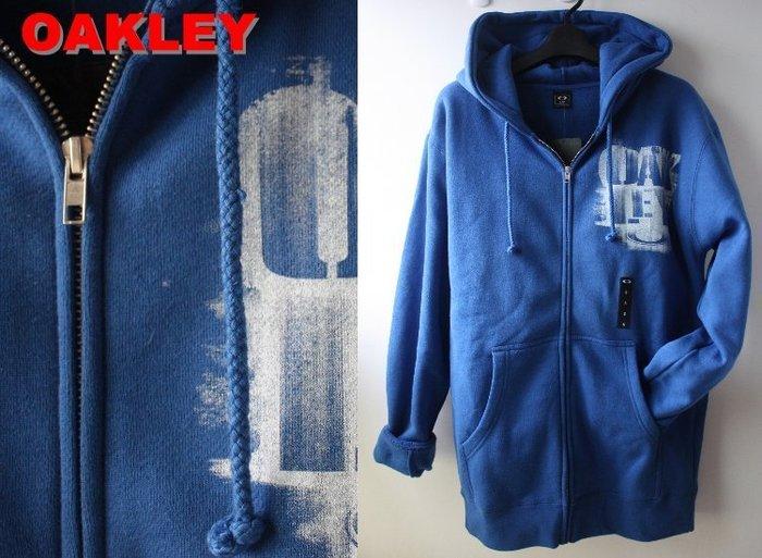 特價【美國知名運動品牌 OAKLEY】100% 全新正品 一般 合身款 長袖 連帽 外套/ 寶藍色*520VT【S M】