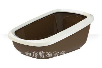 【阿肥宠物生活】荷兰原装进口PeeWee加大无罩式双层猫便盆-象牙棕/防止尿液喷出及防止猫砂带出的专利设计//免运