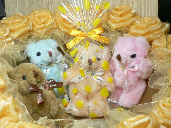 熊愛妳~包裝到好~13cm花束熊~聖誕節禮物二次進場結婚禮小物婚宴囍榶送客禮贈品情人節來店禮開幕迎賓禮周年慶生日分享禮