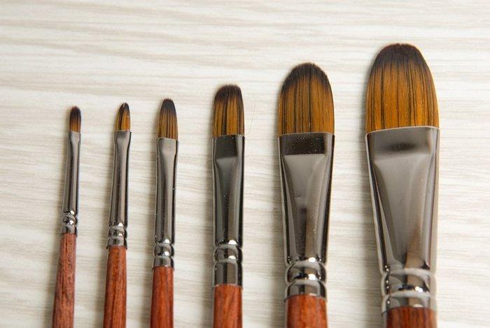 【Artshop美術用品】Miro Art 8101 壓克力油畫兩用筆(半圓) 全系列10支