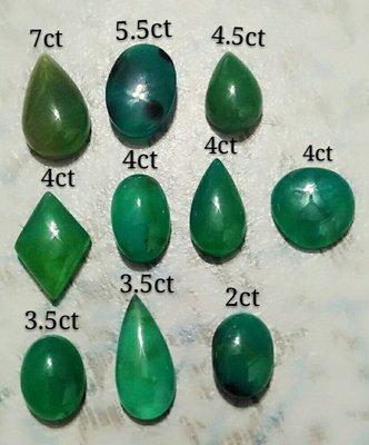 芳緣寶石坊~【精選品 優質放光玻璃種 變色龍 藍玉髓 俗稱台灣藍寶 裸石】1個2000元