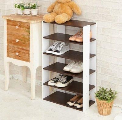 [tidy house]日系優雅五層木質鞋櫃2色可選/鞋架/五層鞋架/木質鞋架 白橡木SHF19