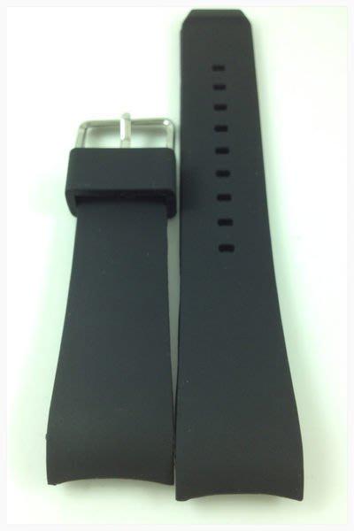 錶帶屋 22mm 黑色素面圓弧彎頭矽膠錶帶代用 ICE WATCH SEIKO 星辰 BALL OMEGA ORIS 現貨