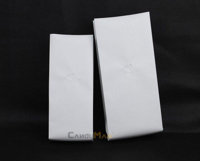 HB101 – 白牛皮紙 純白 1磅 合掌夾邊包裝袋 含單向排氣閥 100入