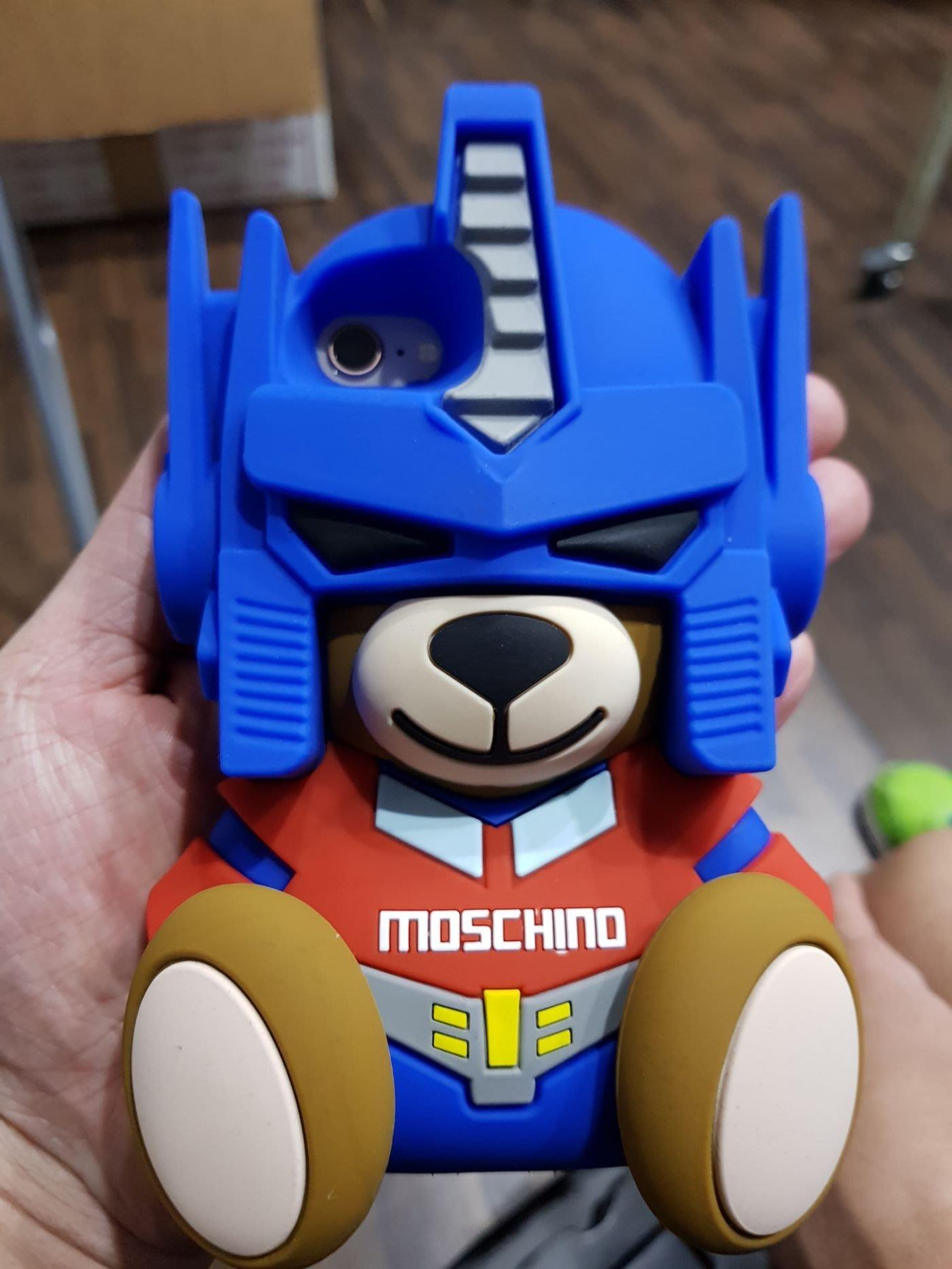 【EZ兔購】~正品 Moschino iPhone i6/i7 case 變形金剛熊手機殼 i6/i7 現貨