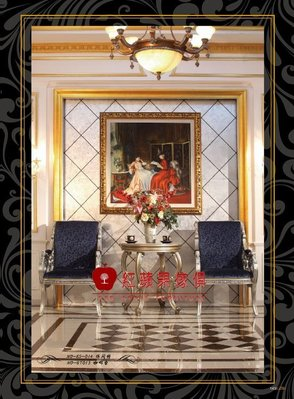 [紅蘋果傢俱] F132M 洛克思瑞系列 新古典 法式 歐式 奢華椅 造型椅 休閒椅