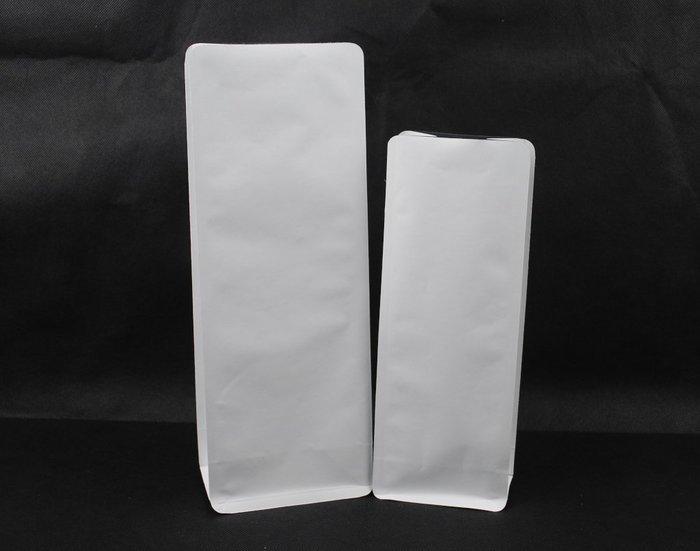PHB101 – 純白 白牛皮紙 1磅 500g 平底袋 平底夾邊袋 加裝單向排氣閥 100入