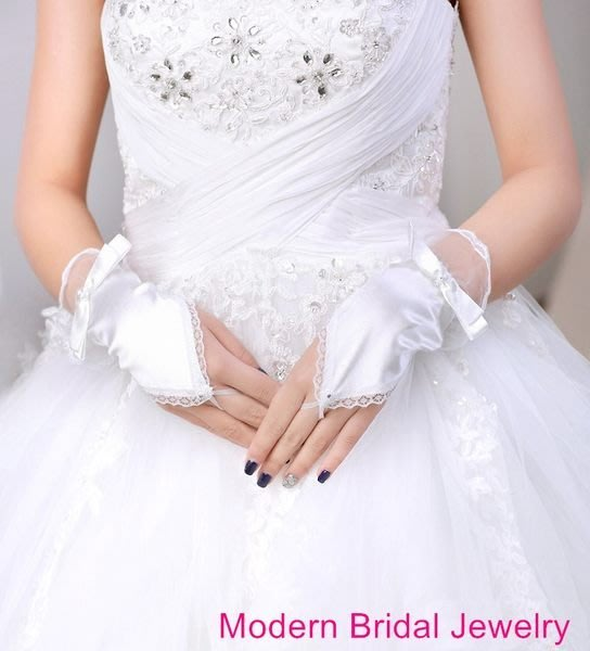 伴娘 花童 伴郎 新郎 新娘 禮服 結婚 訂婚 新娘秘書 新娘手套~C~843~簡結蝴蝶結