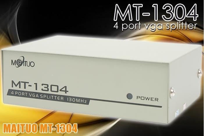 二手自售 MAITUO MT-1304 4 Ports Video Splitter VGA分頻器 分配器 分屏器 盒裝