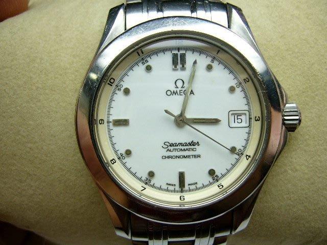 [吉宏精品交流中心]OMEGA 歐米茄 seamaster 海馬 白面 自動機械 男錶