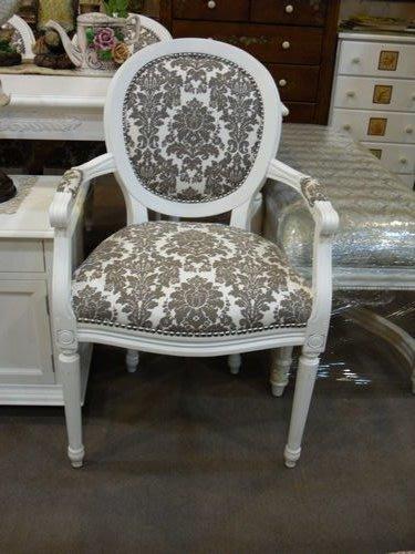 美生活館-- 歐美新款-- 新古典 凡賽斯 雕刻 白 扶手椅房間椅洽談椅玄關椅書桌椅秘書椅