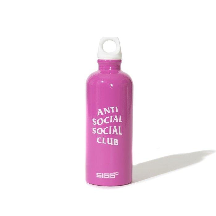 【GM】Anti Social Social Club x Sigg Water Bottle Logo 水瓶 粉紅色