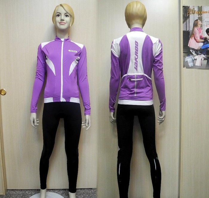 「喜樂屋戶外」JAKROO捷酷 歐洲品牌 女款長袖車衣 吸濕排汗 彈性布料 透氣 自行車衣