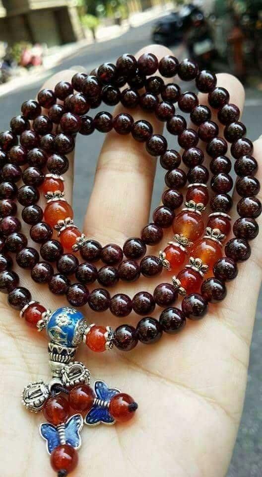 天然 紅石榴石 108顆 項鏈 手鏈 皆可