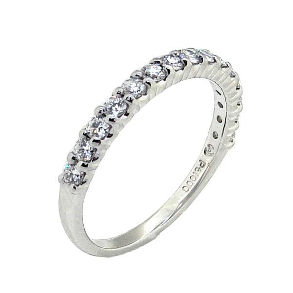【JHT 金宏總珠寶/GIA鑽石專賣】0.41ct天然鑽石線戒/材質:PT1000(JB42-A10)