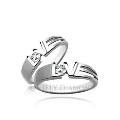《JELY時尚館》【JELY Diamond】Heart Beat(對戒)---10分真鑽石戒指 §會員終生獨享交換維修優惠§