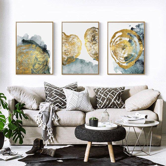 抽象現代簡約形意意境圖形裝飾畫芯高清微噴打印壁畫(3款可選)