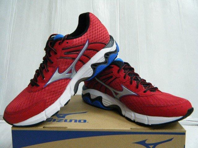新太陽 MIZUNO 美津濃 J1GC154407 WAVE INSPIRE 11 支撐型 男 慢跑鞋 紅銀 特2750