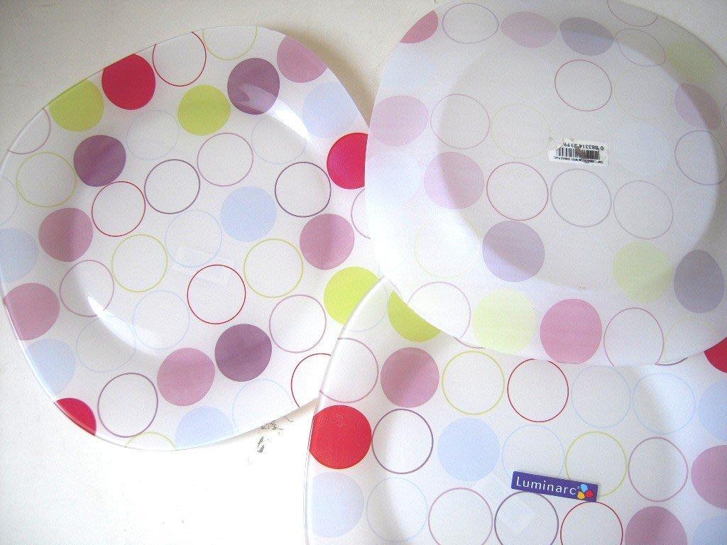 ☆二哥本舖☆Luminarc法國樂美雅彩繪微波餐具組/餐盤/方盤~三入組