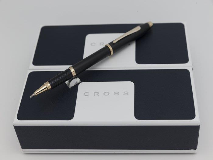 【Pen筆】CROSS高仕 新世紀CenturyII黑金鋼珠筆  2504