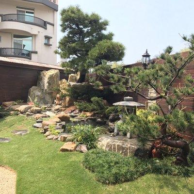 景觀石材-景觀庭院樹-造景水池-生態水池設計施工